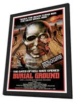 Burial Ground - 11 x 17 Movie Poster - Style A - in Deluxe Wood Frame