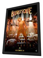 Burlesque - 11 x 17 Movie Poster - Style B - in Deluxe Wood Frame