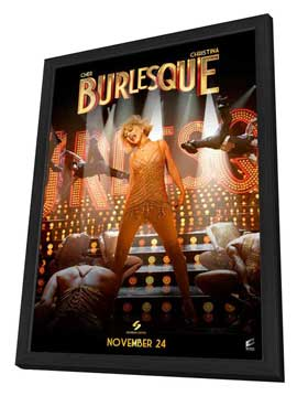 Burlesque - 27 x 40 Movie Poster - Style B - in Deluxe Wood Frame
