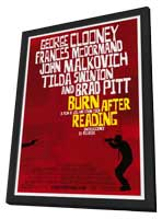 Burn After Reading - 11 x 17 Movie Poster - Style A - in Deluxe Wood Frame