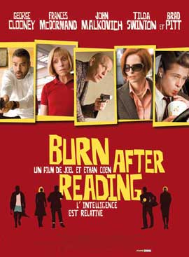 Burn After Reading - 27 x 40 Movie Poster - French Style A