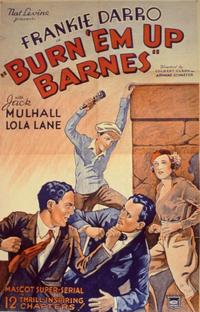 Burn 'em Up Barnes - 11 x 14 Movie Poster - Style B