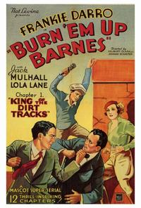 Burn 'em Up Barnes - 27 x 40 Movie Poster - Style A