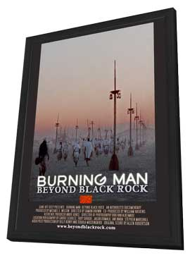 Burning Man: Beyond Black Rock - 11 x 17 Movie Poster - Style B - in Deluxe Wood Frame