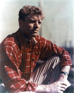 Burt Lancaster - Burt Lancaster in Red Checkered long sleeve