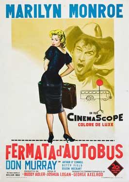 Bus Stop - 11 x 17 Movie Poster - Italian Style B