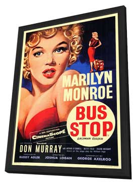 Bus Stop - 11 x 17 Poster - Foreign - Style A - in Deluxe Wood Frame