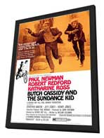 Butch Cassidy and the Sundance Kid - 11 x 17 Movie Poster - Style A - in Deluxe Wood Frame