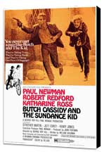 Butch Cassidy and the Sundance Kid - 27 x 40 Movie Poster - Style A - Museum Wrapped Canvas