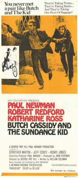 Butch Cassidy and the Sundance Kid - 14 x 36 Movie Poster - Insert Style A