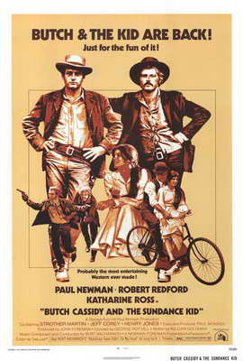 Butch Cassidy and the Sundance Kid - 27 x 40 Movie Poster - Style B