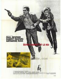 Butch Cassidy and the Sundance Kid - 27 x 40 Movie Poster - French Style A