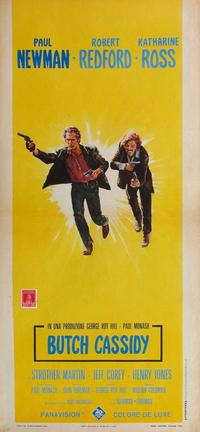Butch Cassidy and the Sundance Kid - 20 x 60 - Door Movie Poster - French Style A