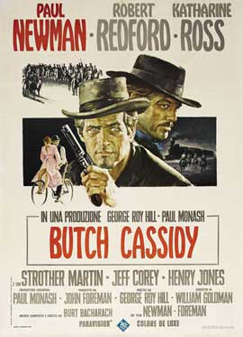 Butch Cassidy and the Sundance Kid - 27 x 40 Movie Poster - Italian Style A