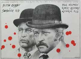 Butch Cassidy and the Sundance Kid - 11 x 17 Movie Poster - Polish Style B