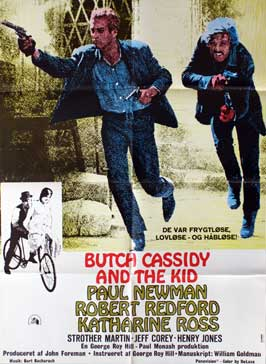 Butch Cassidy and the Sundance Kid - 11 x 17 Movie Poster - Danish Style A