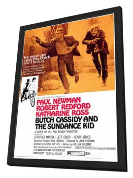 Butch Cassidy and the Sundance Kid - 27 x 40 Movie Poster - Style A - in Deluxe Wood Frame
