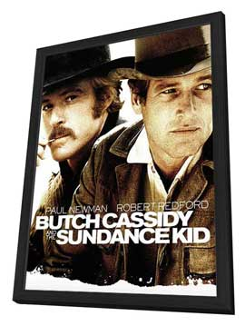 Butch Cassidy and the Sundance Kid - 27 x 40 Movie Poster - Style D - in Deluxe Wood Frame