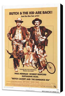Butch Cassidy and the Sundance Kid - 27 x 40 Movie Poster - Style B - Museum Wrapped Canvas