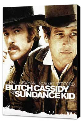 Butch Cassidy and the Sundance Kid - 27 x 40 Movie Poster - Style D - Museum Wrapped Canvas