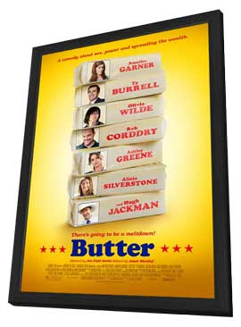 Butter - 27 x 40 Movie Poster - Style A - in Deluxe Wood Frame