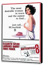 Butterfield 8 - 11 x 17 Movie Poster - Style A - Museum Wrapped Canvas