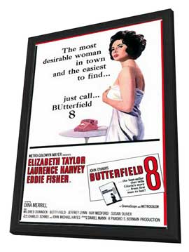 Butterfield 8 - 11 x 17 Movie Poster - Style A - in Deluxe Wood Frame