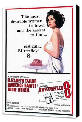 Butterfield 8 - 27 x 40 Movie Poster - Style A - Museum Wrapped Canvas