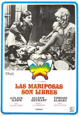Butterflies Are Free - 11 x 17 Movie Poster - Spanish Style A