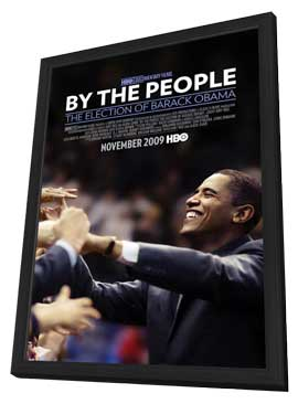 By the People: The Election of Barack Obama - 11 x 17 Movie Poster - Style A - in Deluxe Wood Frame