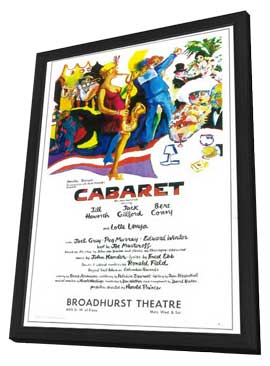 Cabaret (Broadway) - 11 x 17 Poster - Style A - in Deluxe Wood Frame