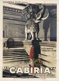 Cabiria - 11 x 17 Movie Poster - Italian Style A