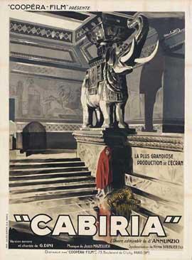 Cabiria - 27 x 40 Movie Poster - Italian Style A