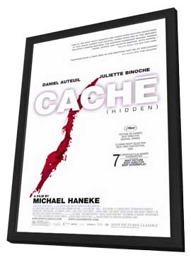 Cache - 11 x 17 Movie Poster - Style A - in Deluxe Wood Frame