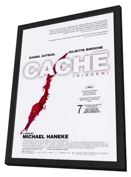 Cache - 27 x 40 Movie Poster - Style A - in Deluxe Wood Frame