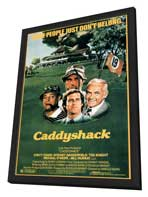 Caddyshack - 27 x 40 Movie Poster - Style A - in Deluxe Wood Frame