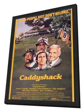 Caddyshack - 11 x 17 Movie Poster - Style A - in Deluxe Wood Frame