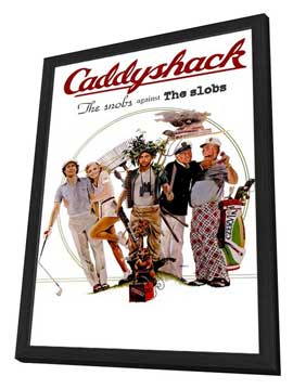 Caddyshack - 11 x 17 Movie Poster - Style C - in Deluxe Wood Frame