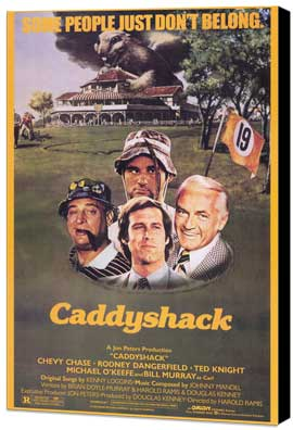 Caddyshack - 11 x 17 Movie Poster - Style A - Museum Wrapped Canvas