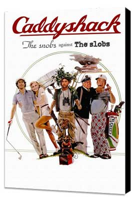 Caddyshack - 11 x 17 Movie Poster - Style C - Museum Wrapped Canvas