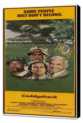 Caddyshack - 14 x 36 Movie Poster - Insert Style A - Museum Wrapped Canvas