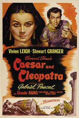 Caesar and Cleopatra - 11 x 17 Movie Poster - Style B