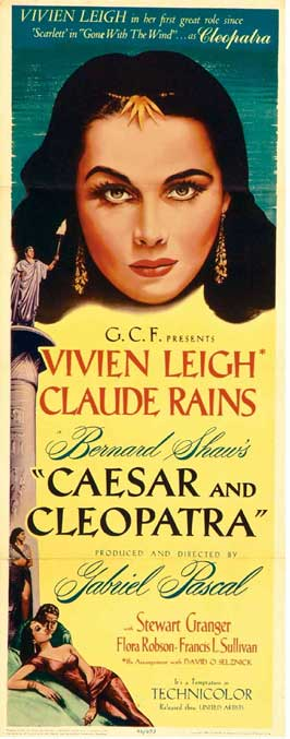 Caesar and Cleopatra - 14 x 36 Movie Poster - Insert Style A