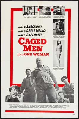 Caged Men Plus One Woman - 27 x 40 Movie Poster - Style A