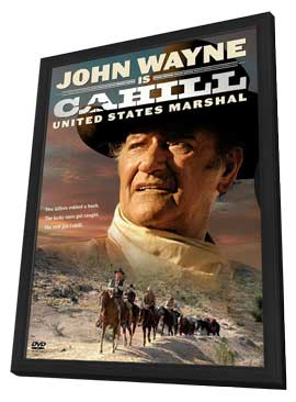 Cahill U.S. Marshal - 27 x 40 Movie Poster - Style B - in Deluxe Wood Frame