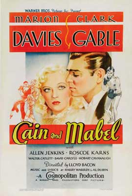 Cain and Mabel - 27 x 40 Movie Poster - Style B