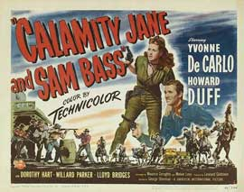 Calamity Jane and Sam Bass - 11 x 14 Movie Poster - Style A