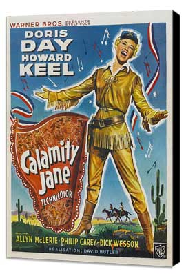 Calamity Jane - 27 x 40 Movie Poster - Style C - Museum Wrapped Canvas