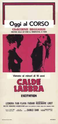 Calde Labbra - 13 x 28 Movie Poster - Italian Style A