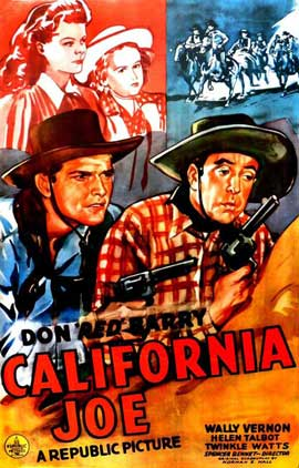 California Joe - 11 x 17 Movie Poster - Style A